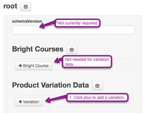Linking A Course Based on Variable Product Data
