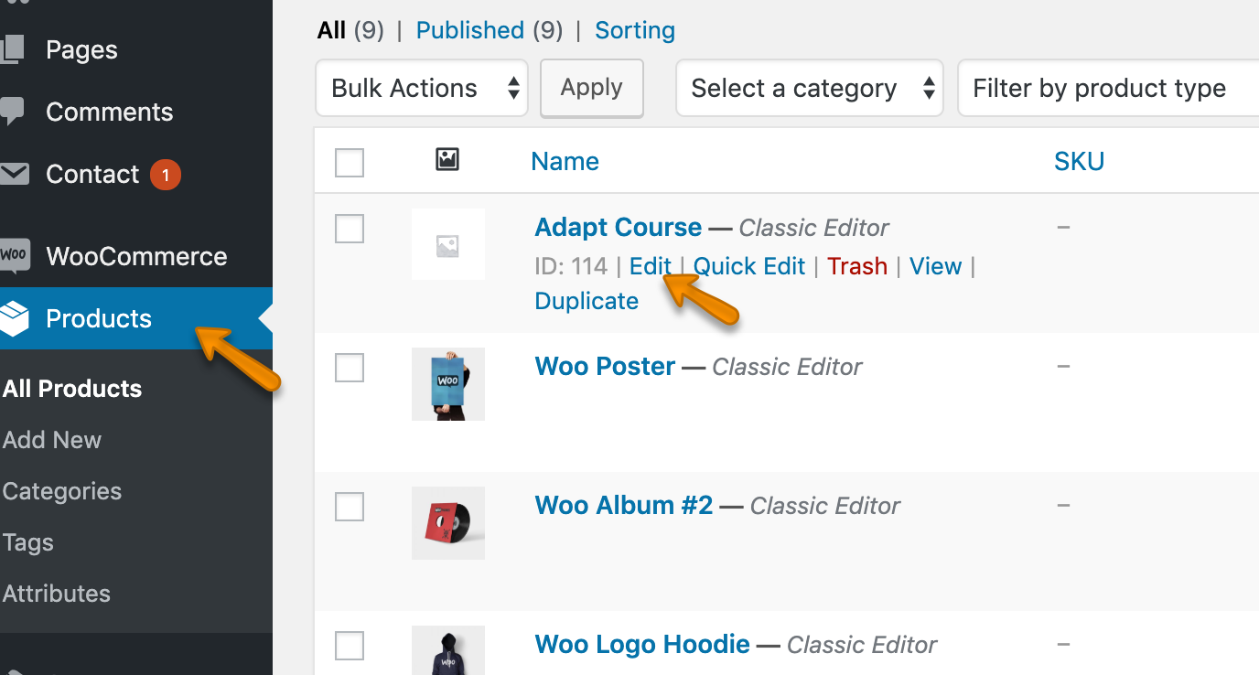 Configuring How A Course Product Appears To A Purchaser